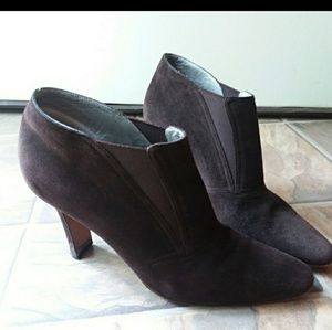 Donna Karan Chocolate Suede Booties